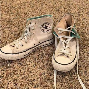 Cream Vintage High Top Converse